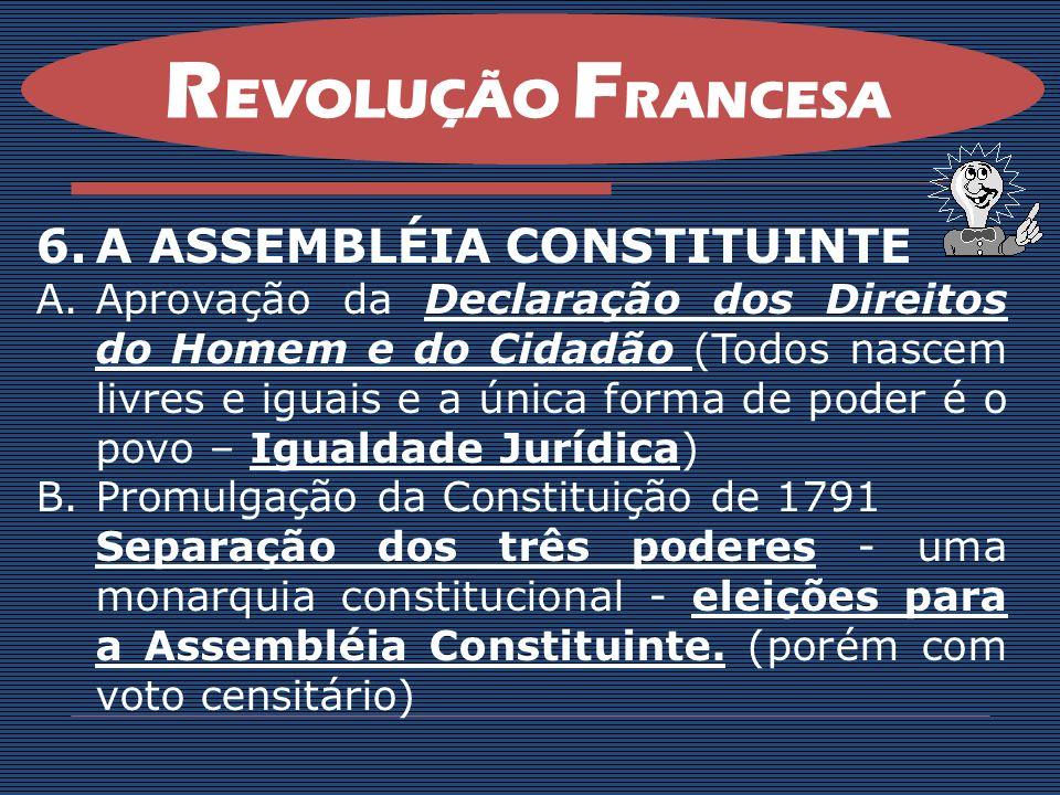 REVOLUÇÃO FRANCESA A ASSEMBLÉIA CONSTITUINTE