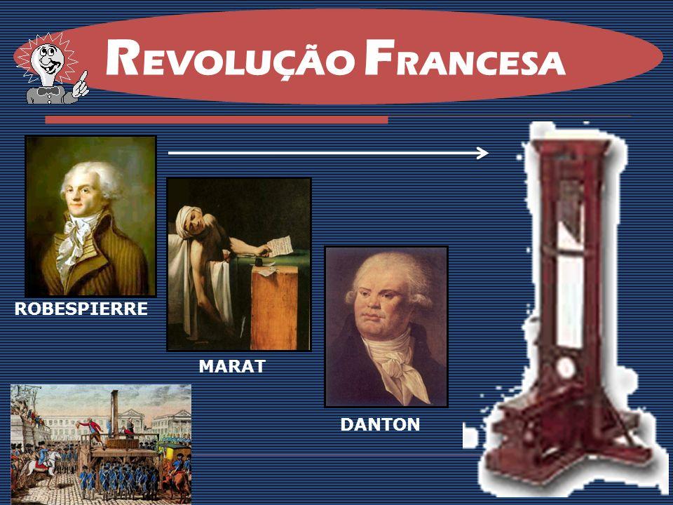 REVOLUÇÃO FRANCESA ROBESPIERRE MARAT DANTON