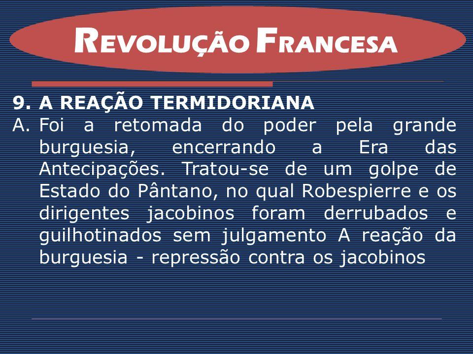 REVOLUÇÃO FRANCESA A REAÇÃO TERMIDORIANA