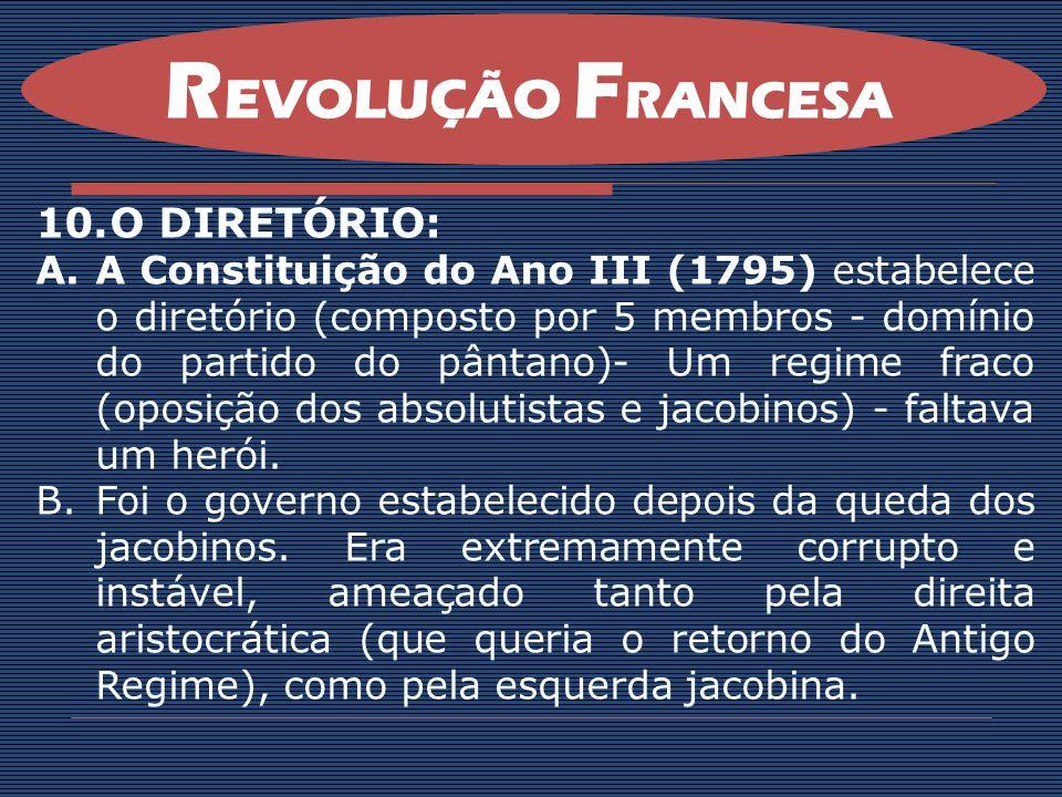 REVOLUÇÃO FRANCESA O DIRETÓRIO: