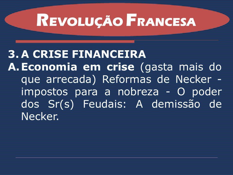REVOLUÇÃO FRANCESA A CRISE FINANCEIRA