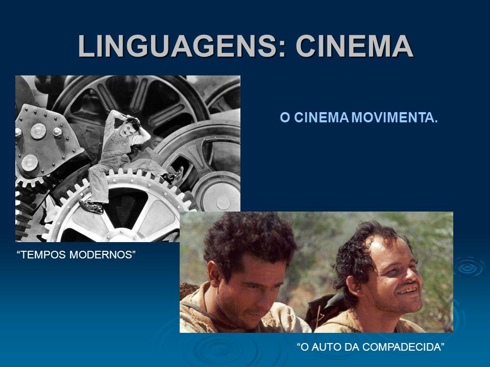 LINGUAGENS: CINEMA O CINEMA MOVIMENTA. TEMPOS MODERNOS