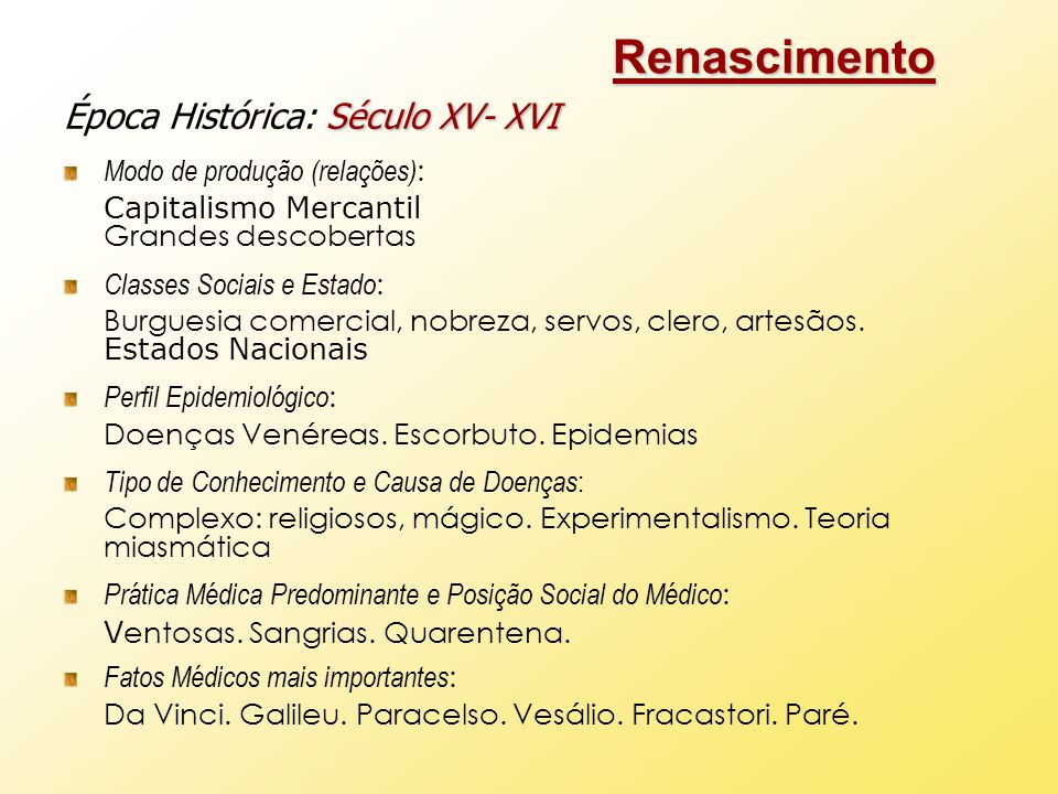 Renascimento Época Histórica: Século XV- XVI