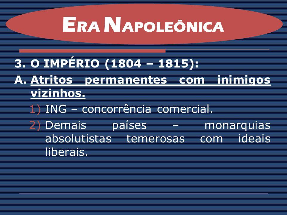 ERA NAPOLEÔNICA O IMPÉRIO (1804 – 1815):