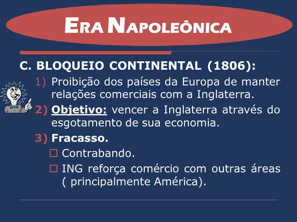 ERA NAPOLEÔNICA BLOQUEIO CONTINENTAL (1806):