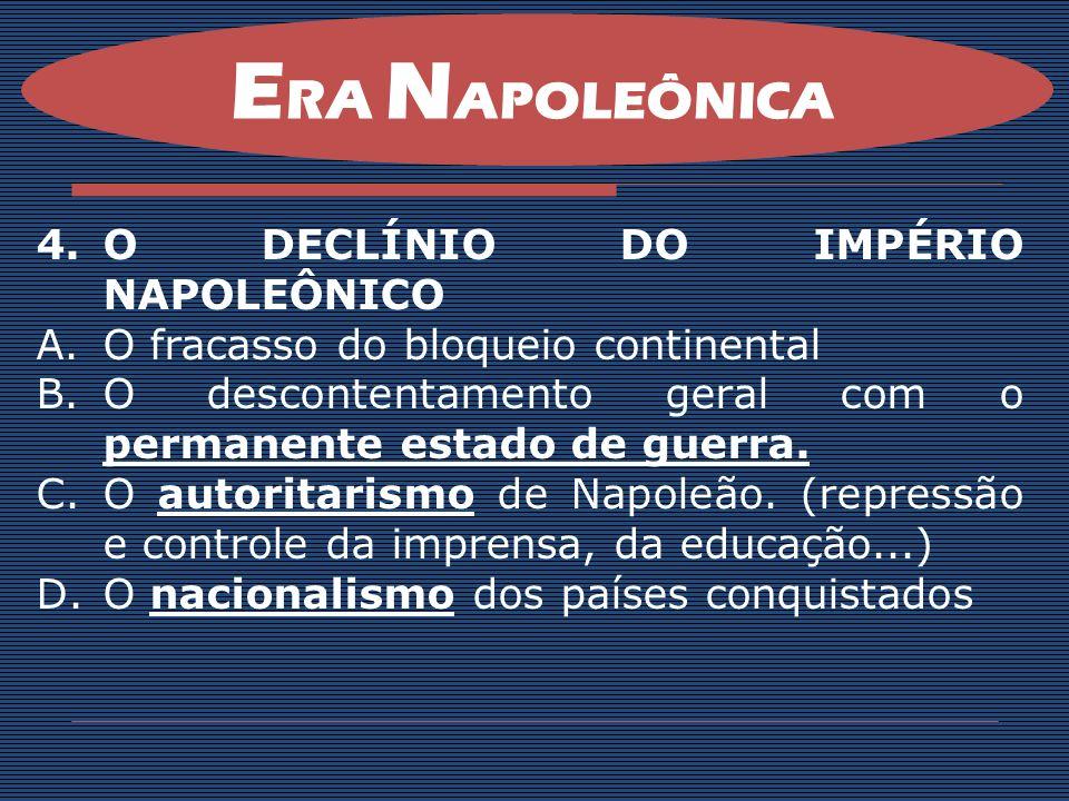 ERA NAPOLEÔNICA O DECLÍNIO DO IMPÉRIO NAPOLEÔNICO