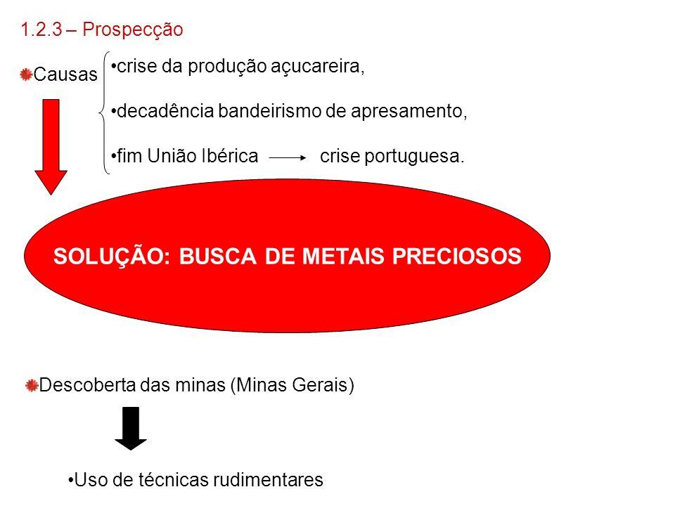 SOLUÇÃO: BUSCA DE METAIS PRECIOSOS