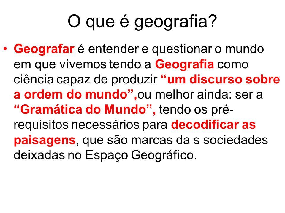 O que é geografia