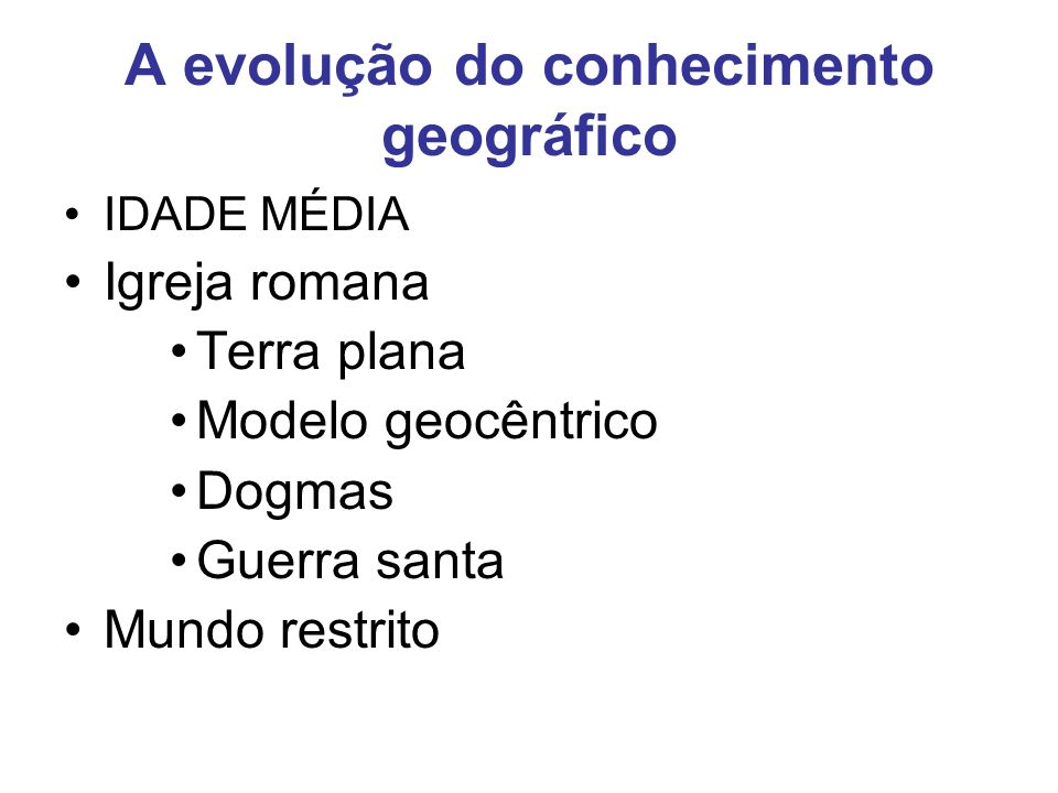 A evolução do conhecimento geográfico