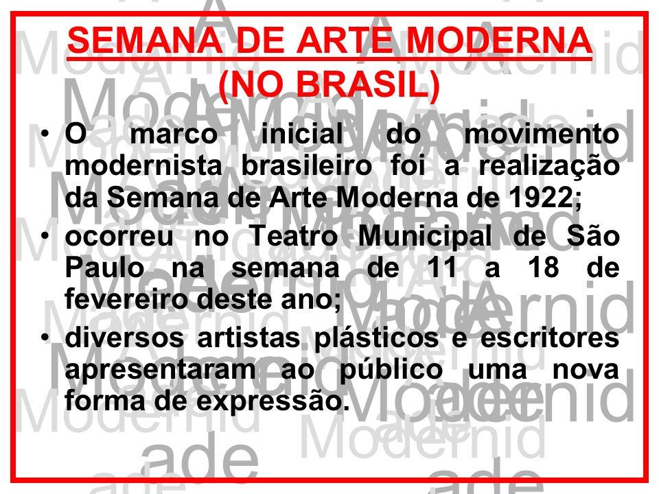 SEMANA DE ARTE MODERNA (NO BRASIL)