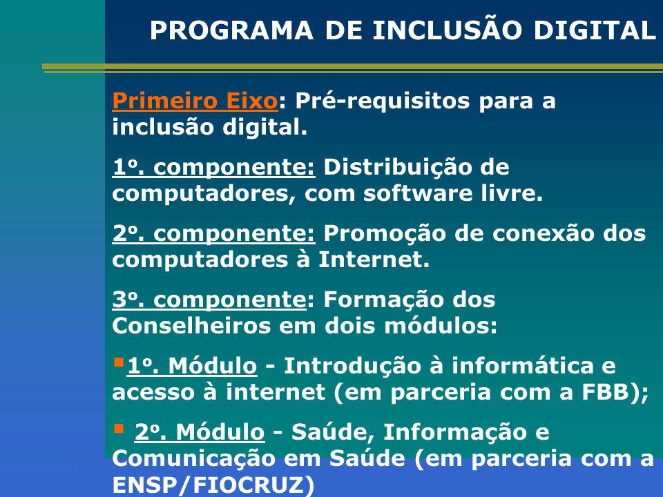 PROGRAMA DE INCLUSÃO DIGITAL