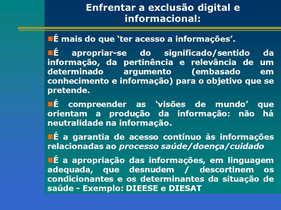 Enfrentar a exclusão digital e informacional: