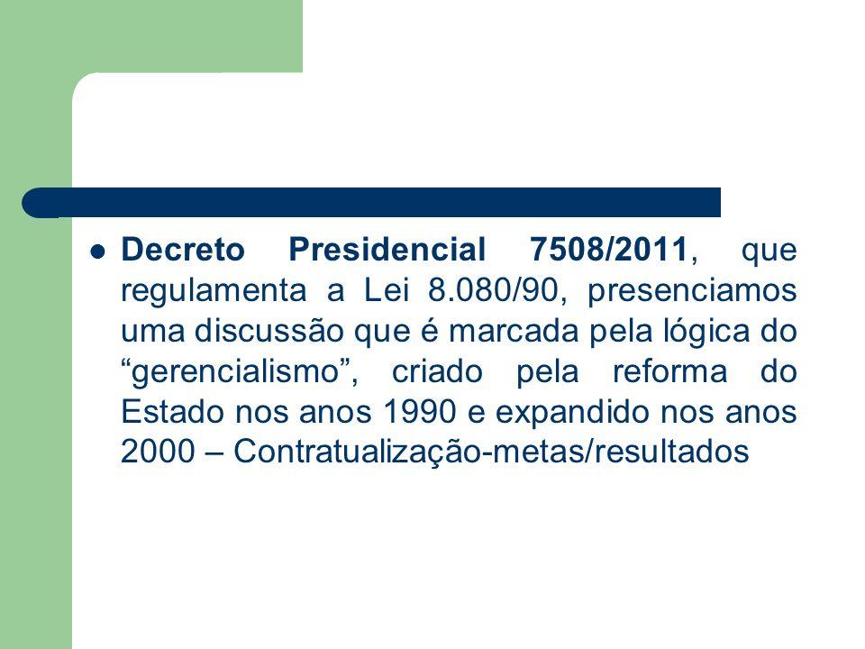 Decreto Presidencial 7508/2011, que regulamenta a Lei 8