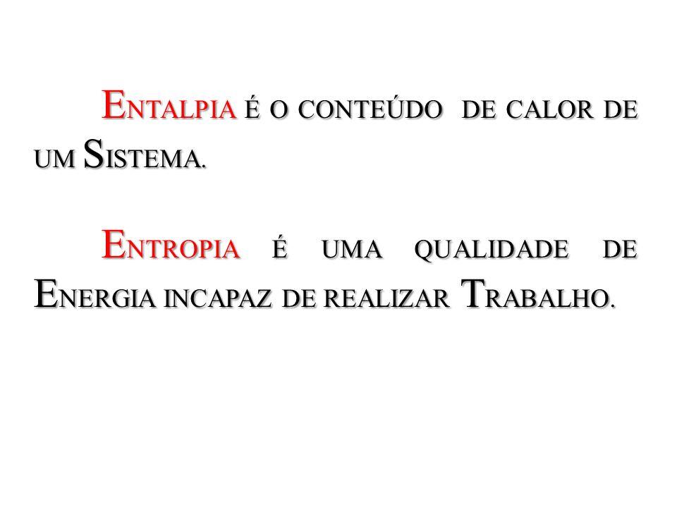 ENTALPIA É O CONTEÚDO DE CALOR DE UM SISTEMA.
