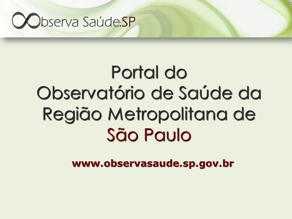 Portal do Observatório de Saúde da Região Metropolitana de São Paulo