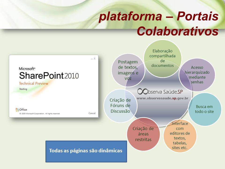 plataforma – Portais Colaborativos