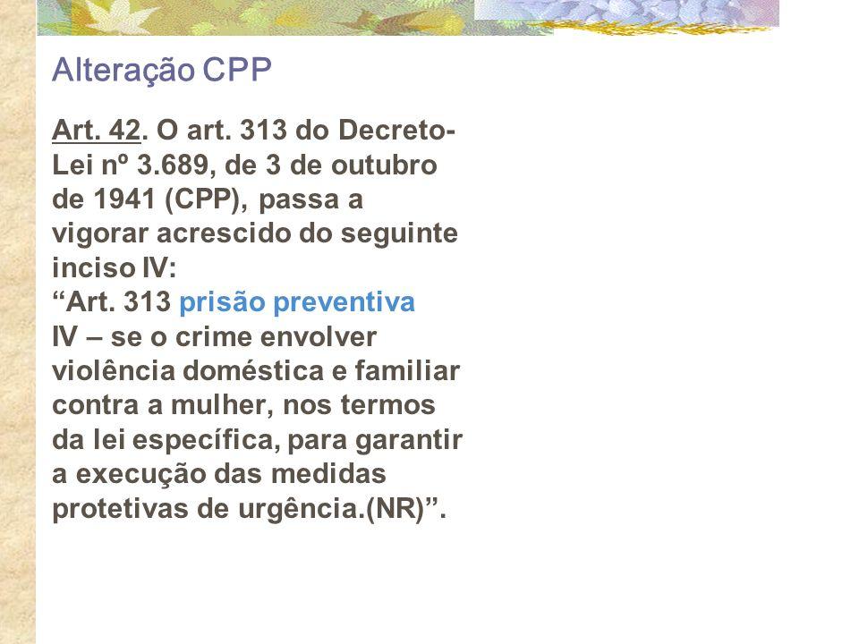 Alteração CPP