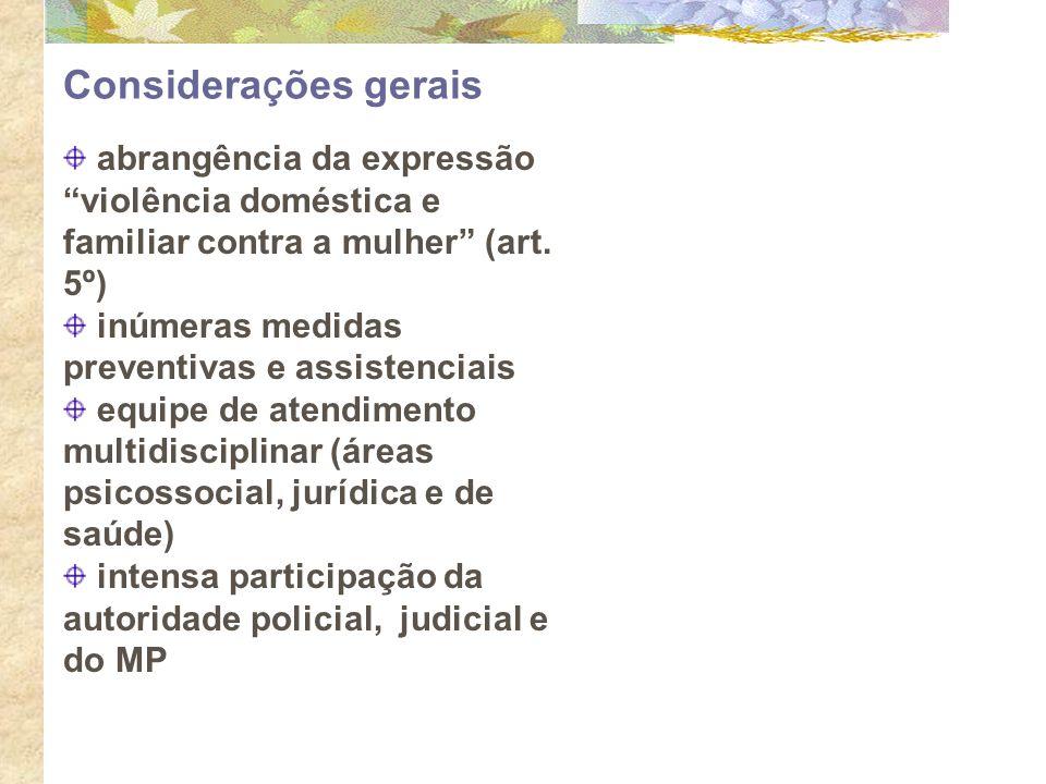 Considerações gerais abrangência da expressão violência doméstica e familiar contra a mulher (art. 5º)