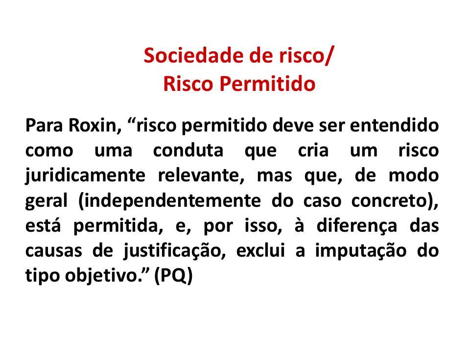 Sociedade de risco/ Risco Permitido