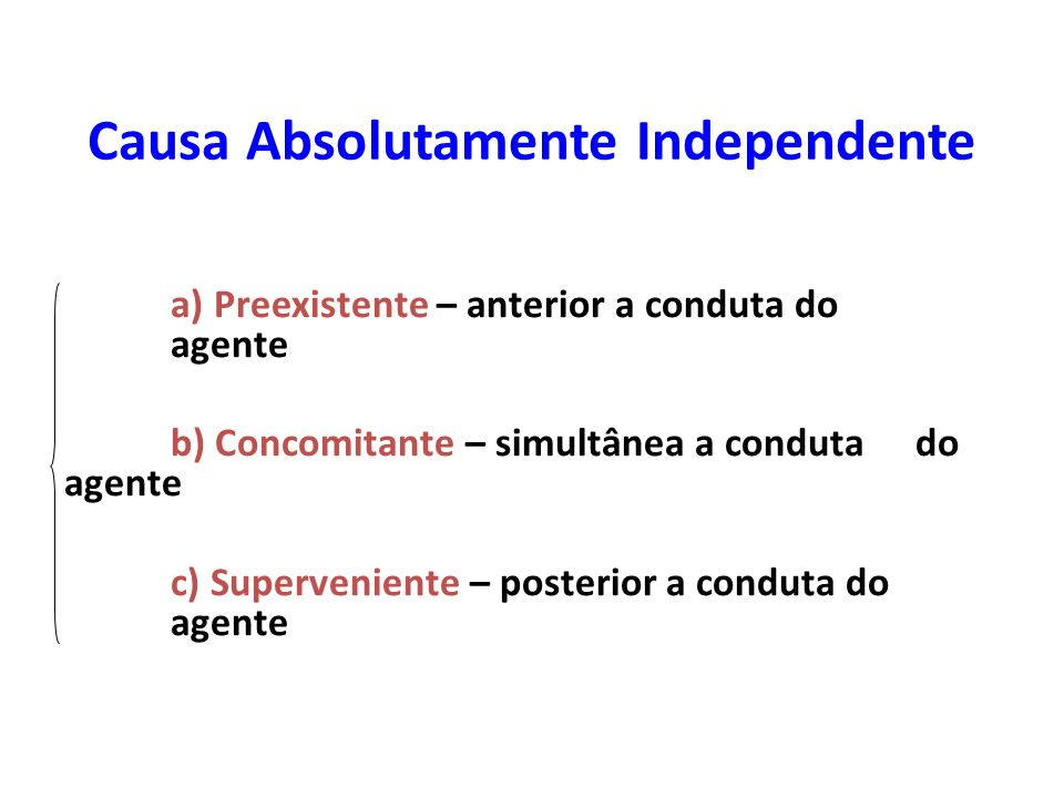 Causa Absolutamente Independente