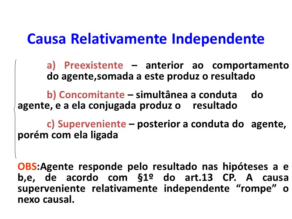 Causa Relativamente Independente