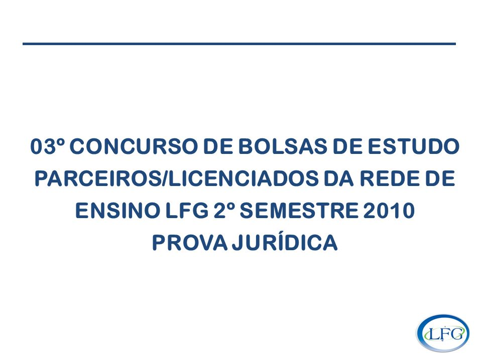 03º CONCURSO DE BOLSAS DE ESTUDO