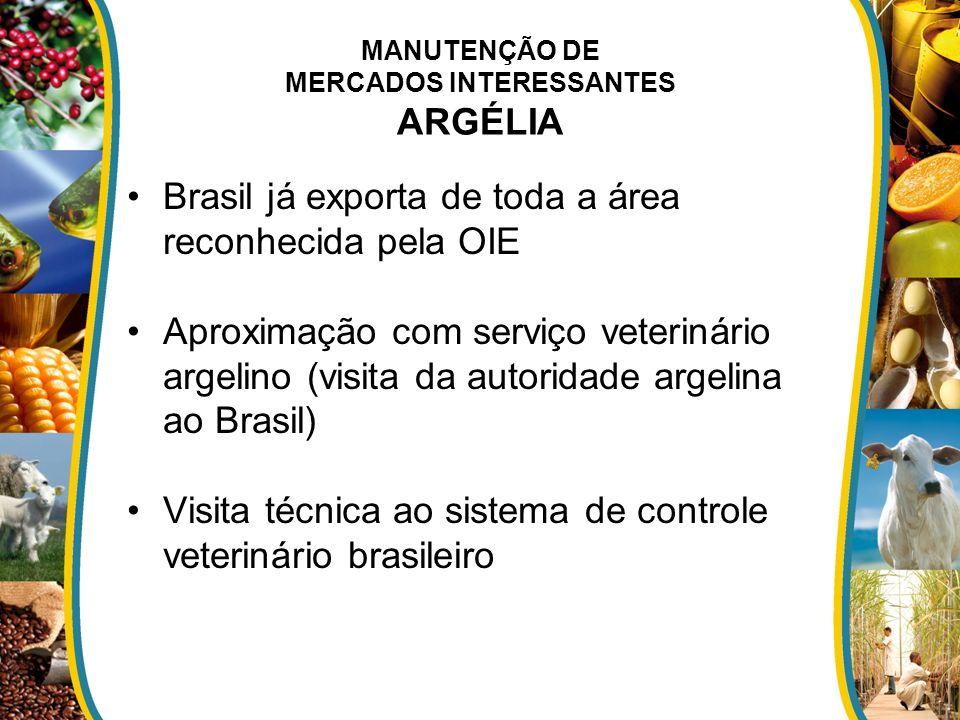 MANUTENÇÃO DE MERCADOS INTERESSANTES ARGÉLIA