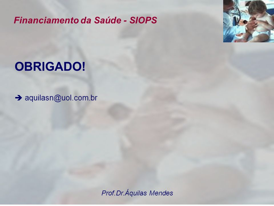 Financiamento da Saúde - SIOPS