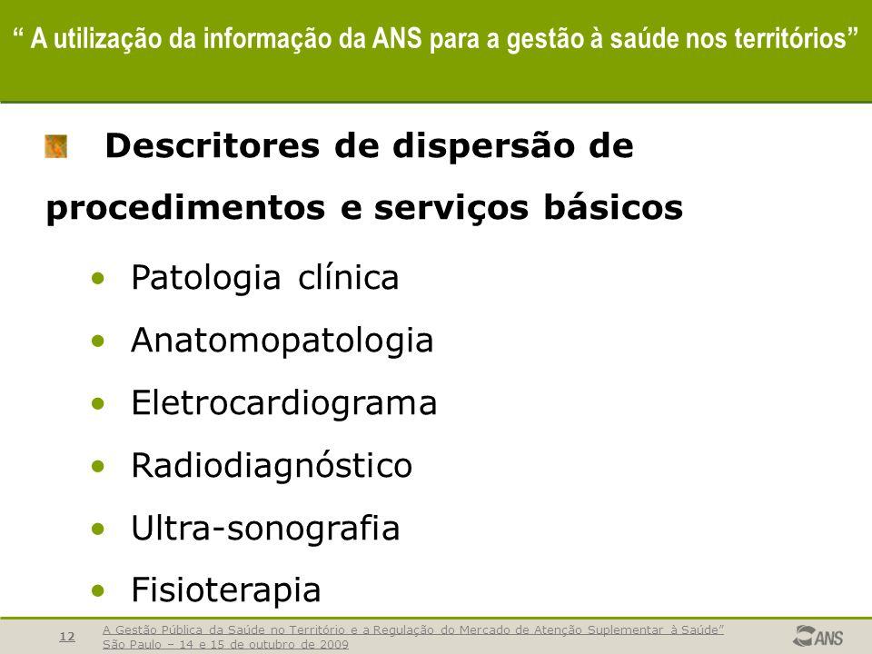 Descritores de dispersão de procedimentos e serviços básicos