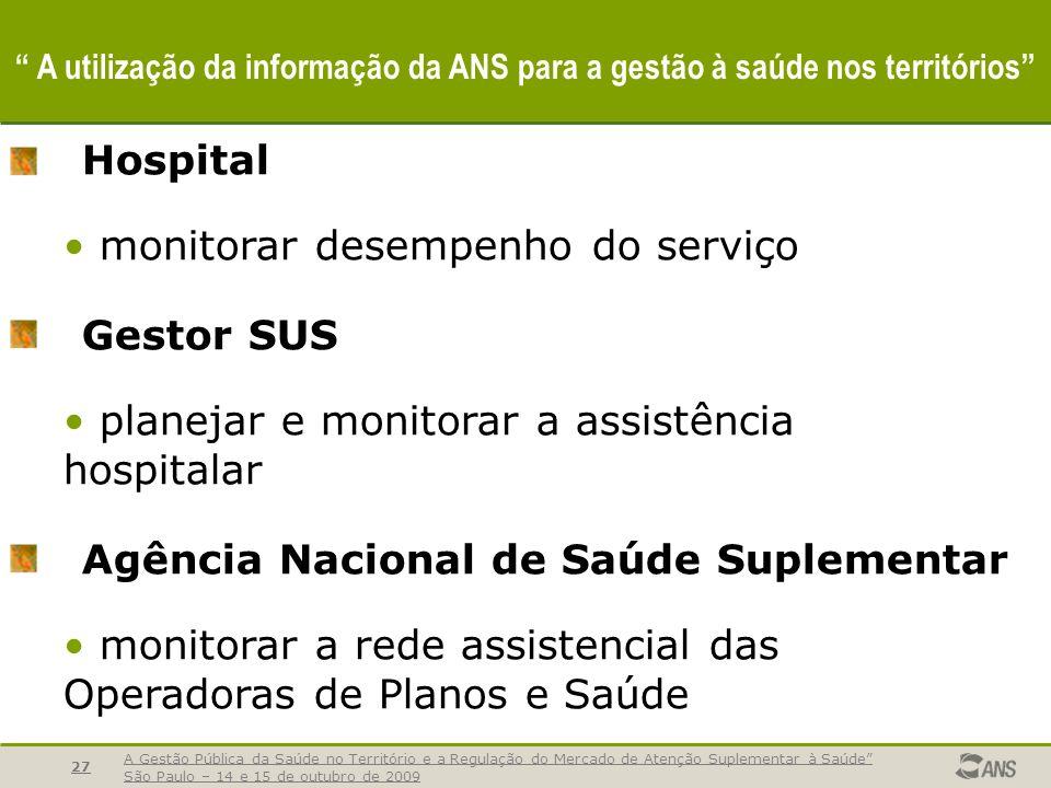 monitorar desempenho do serviço Gestor SUS