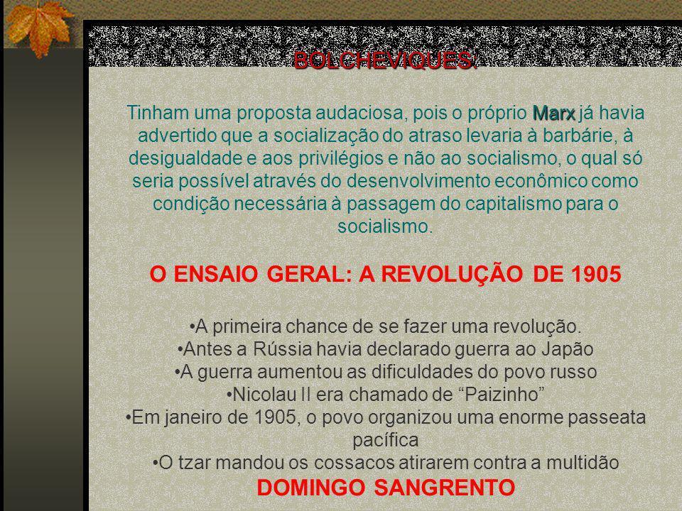 O ENSAIO GERAL: A REVOLUÇÃO DE 1905