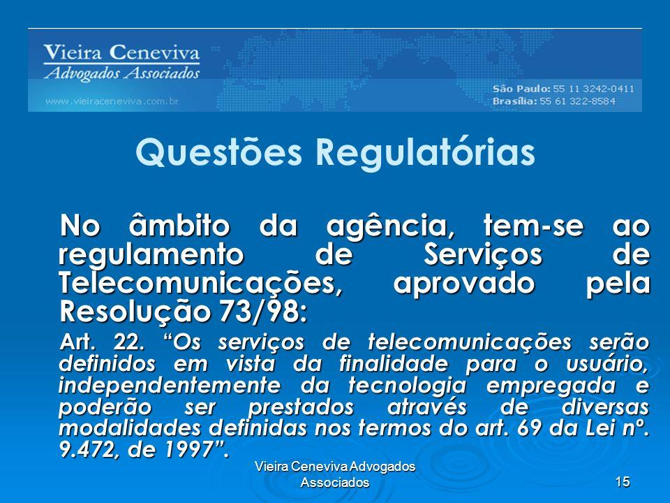 Questões Regulatórias