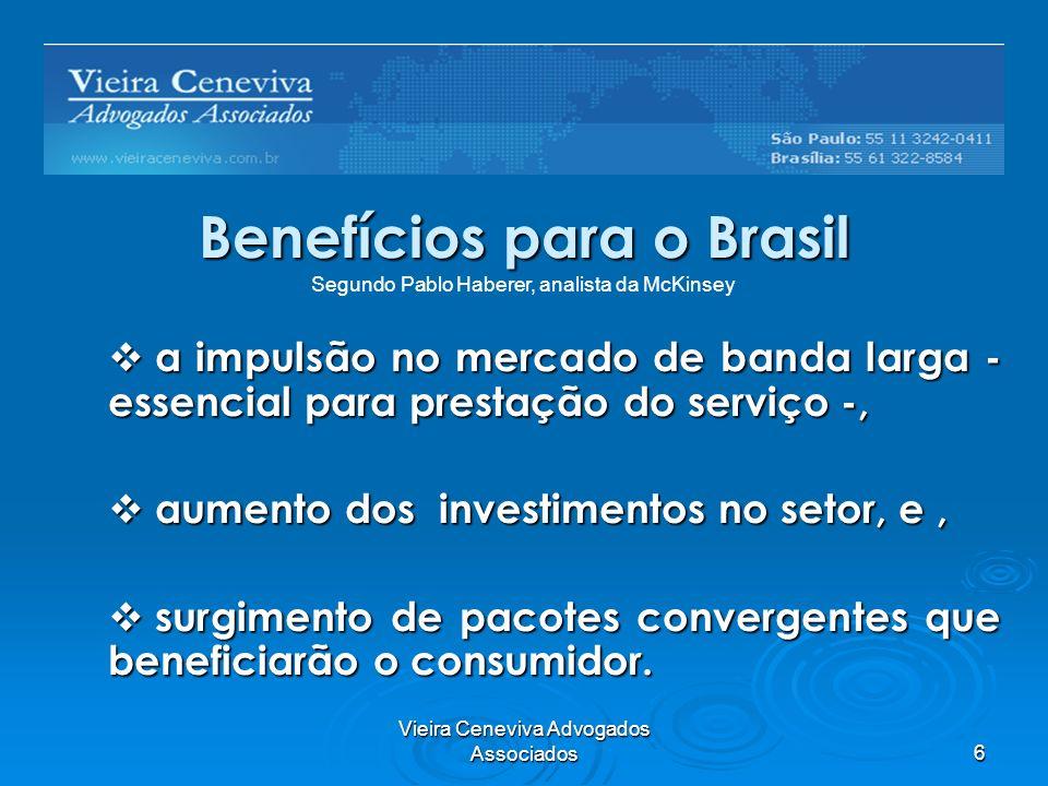 Benefícios para o Brasil