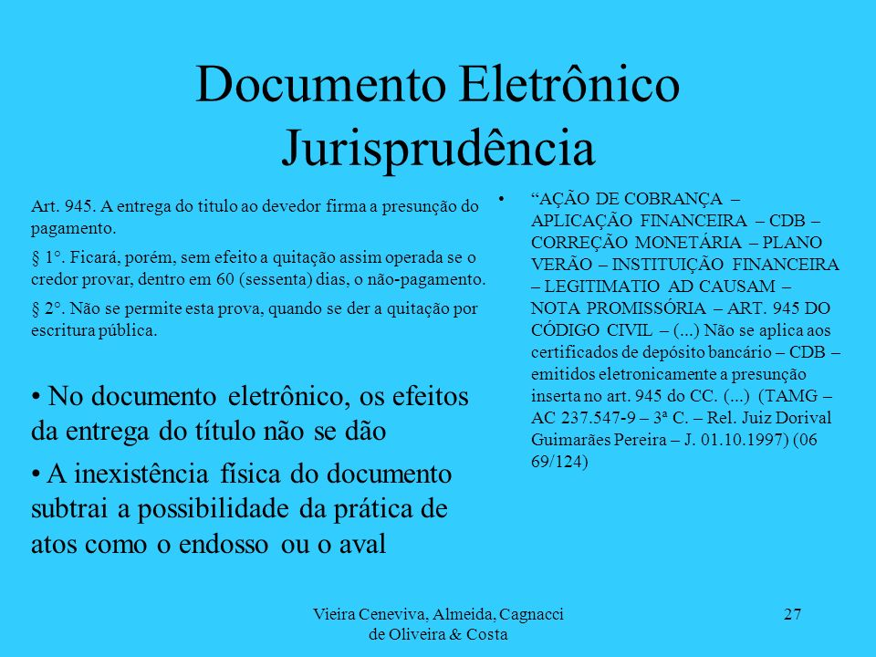 Documento Eletrônico Jurisprudência