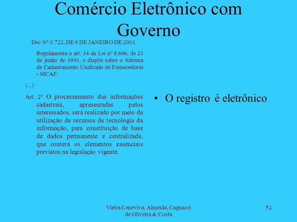 Comércio Eletrônico com Governo