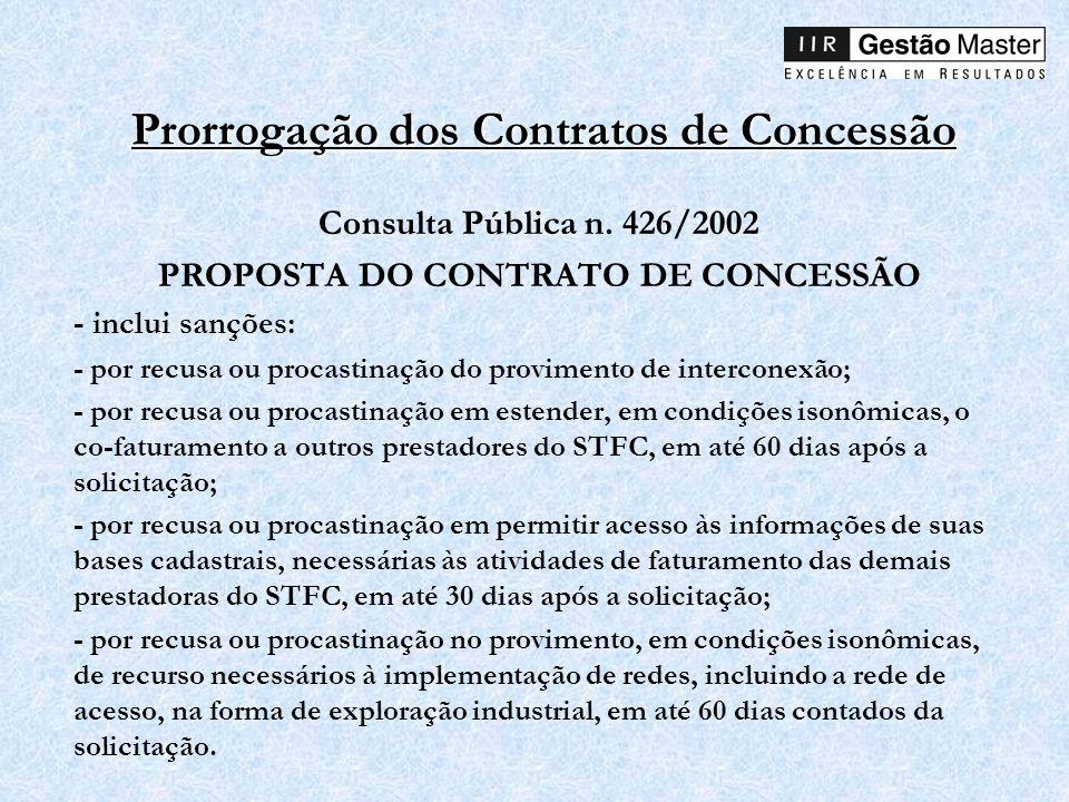 Prorrogação dos Contratos de Concessão