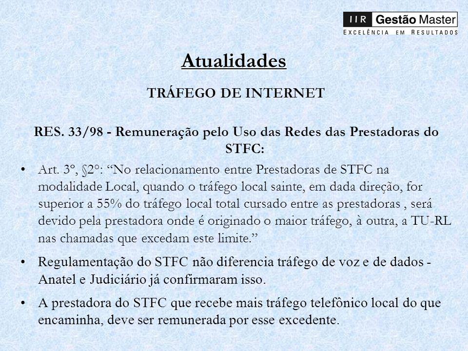 RES. 33/98 - Remuneração pelo Uso das Redes das Prestadoras do STFC: