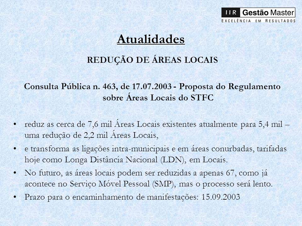 REDUÇÃO DE ÁREAS LOCAIS