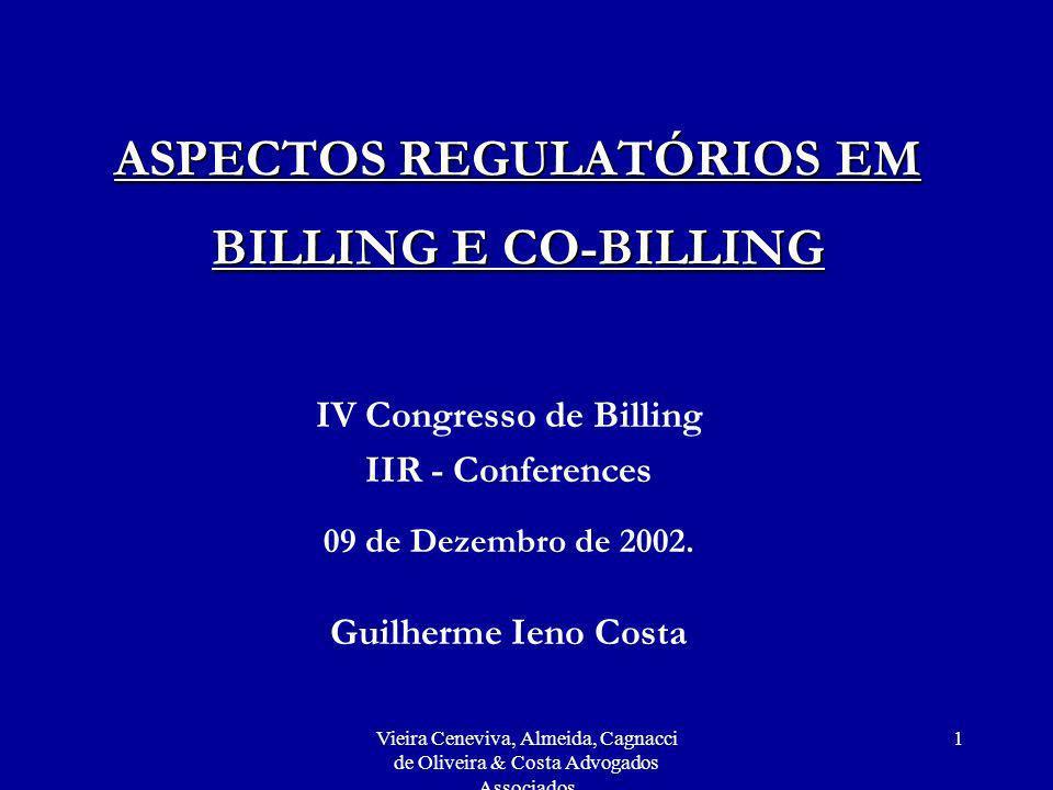 ASPECTOS REGULATÓRIOS EM BILLING E CO-BILLING