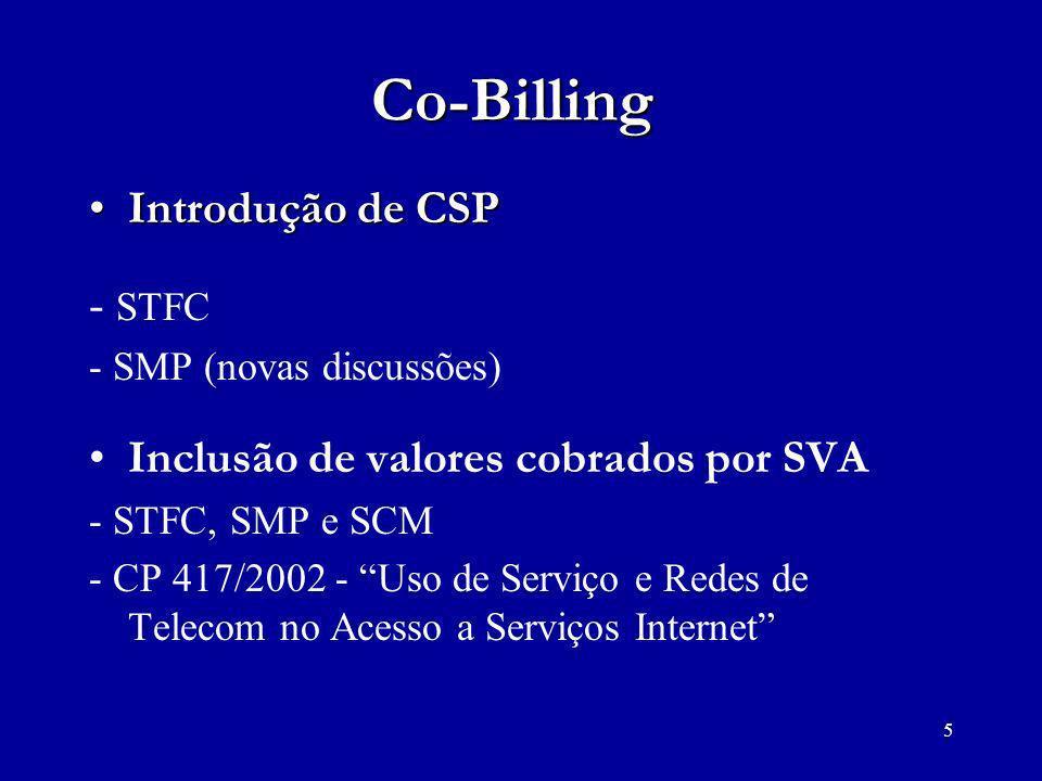 Co-Billing Introdução de CSP - STFC