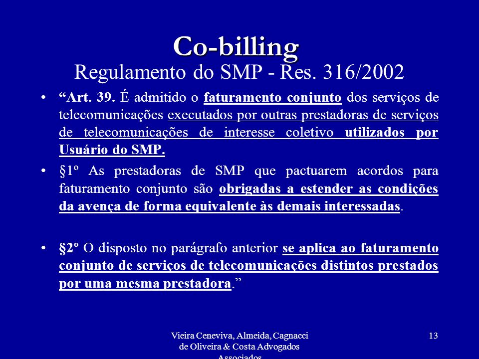 Regulamento do SMP - Res. 316/2002