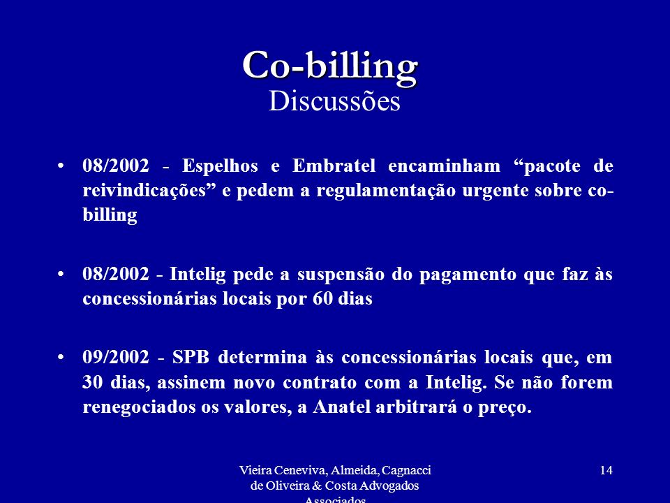 Co-billing Discussões