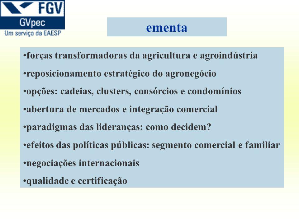 ementa forças transformadoras da agricultura e agroindústria