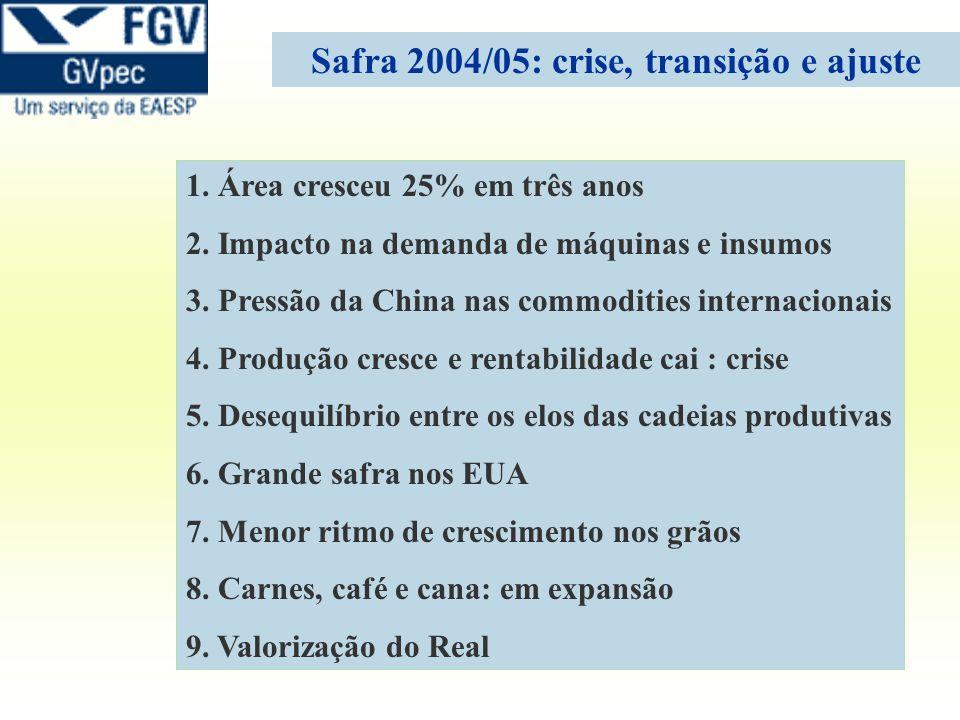 Safra 2004/05: crise, transição e ajuste