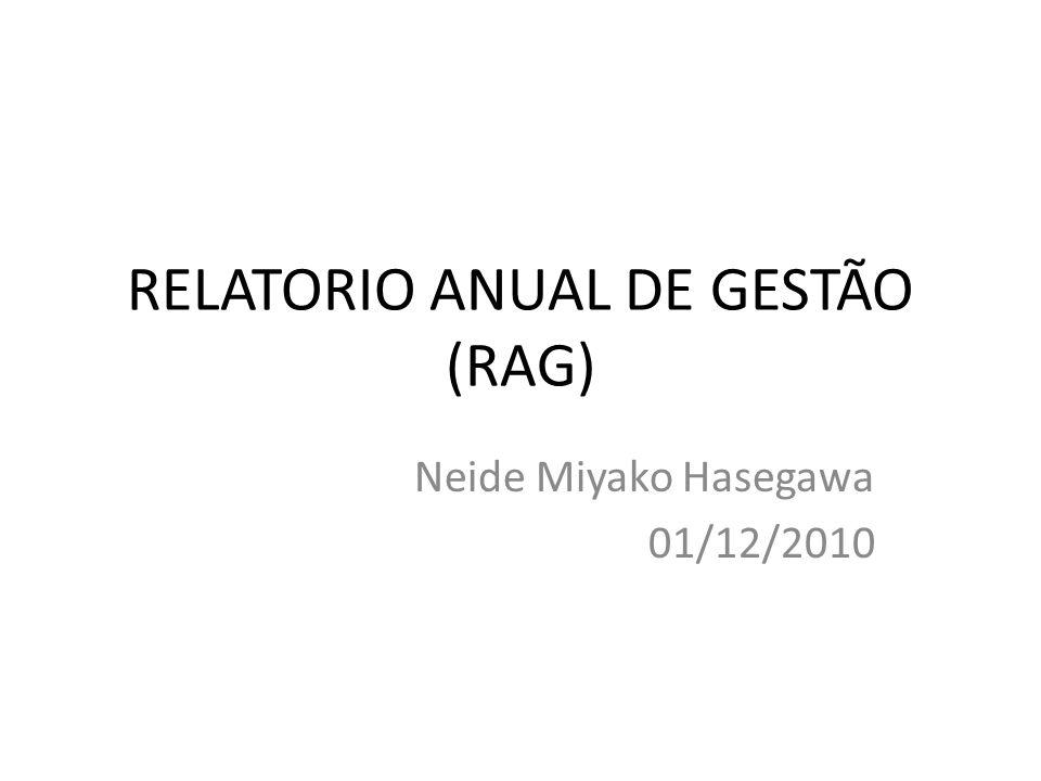 RELATORIO ANUAL DE GESTÃO (RAG)
