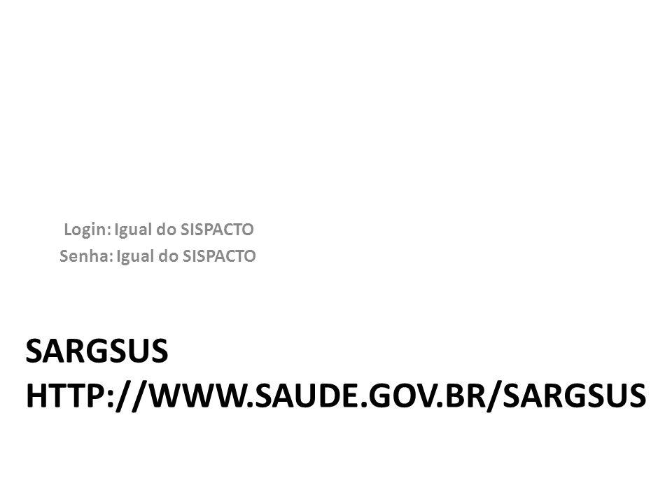 SARGSUS http://www.saude.gov.br/sargsus