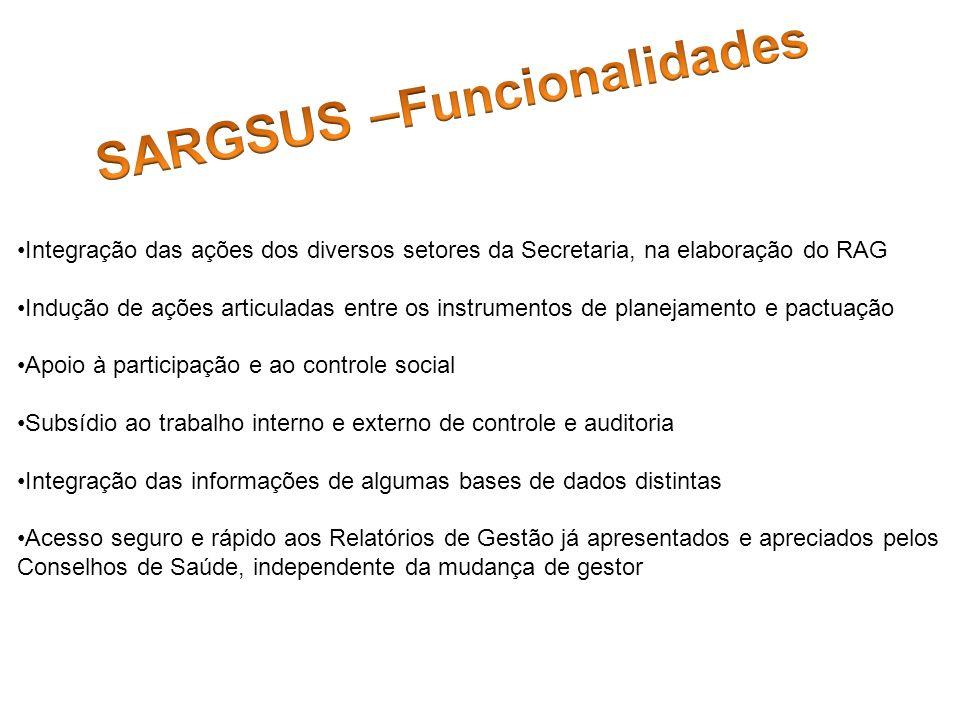 SARGSUS –Funcionalidades