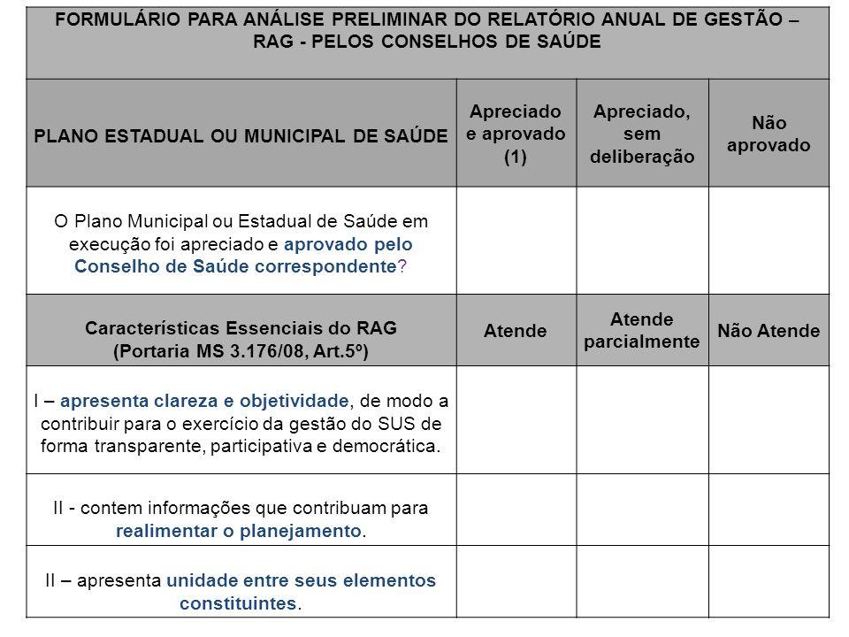 PLANO ESTADUAL OU MUNICIPAL DE SAÚDE Apreciado e aprovado (1)