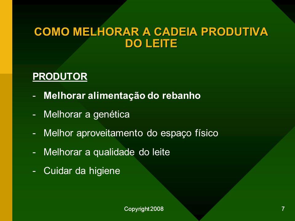 COMO MELHORAR A CADEIA PRODUTIVA DO LEITE