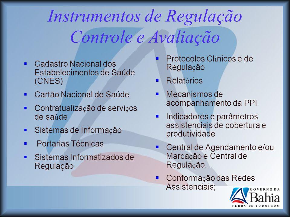 Instrumentos de Regulação Controle e Avaliação